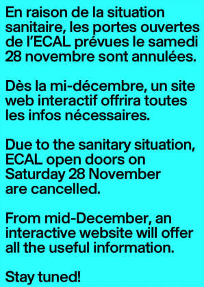 ECAL Open Day: cancellation 4556