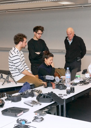 Camera workshop with Barbet Schroeder 3544