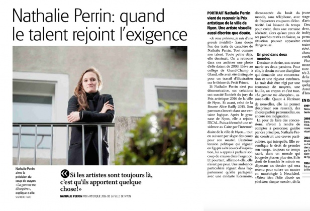 Artistic Prize of Nyon for Nathalie Perrin 3354