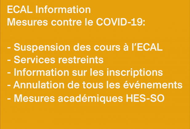 ECAL Information: Special measures against COVID-19 4379