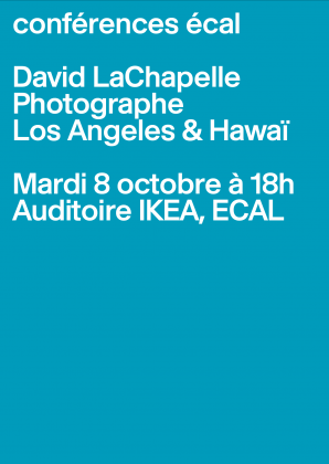 ECAL Conferences: David LaChapelle Tuesday 8 October at 6pm, ECAL 24259