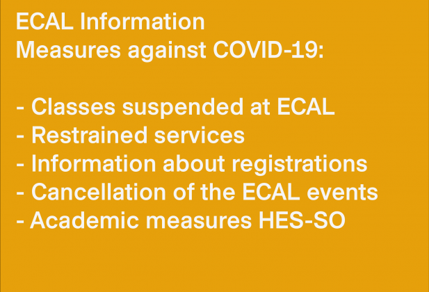 ECAL Information: Special measures against COVID-19  26284
