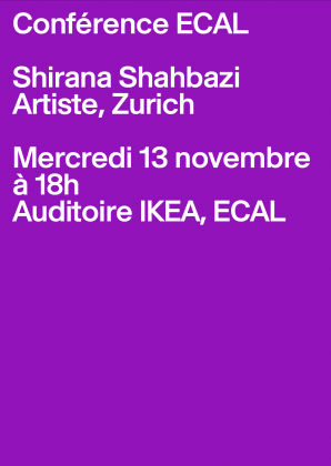 ECAL Lecture: Shirana Shahbazi Wednesday 13 November, 6pm, ECAL 24951