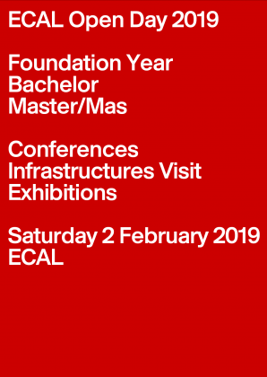 ECAL Open Day 2019  Samedi 2 février 2019
