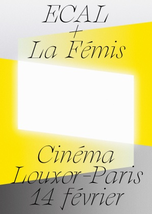 Screening: ECAL and La Fémis at Louxor, Paris Thursday 14 February 2019 at 6:45pm 21765